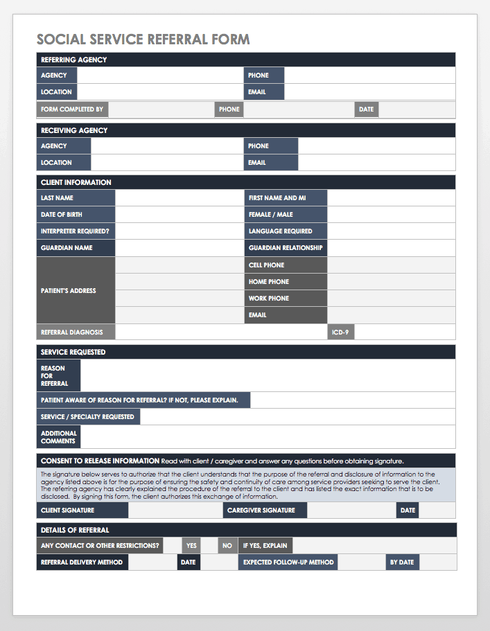 Social Service Referral Form