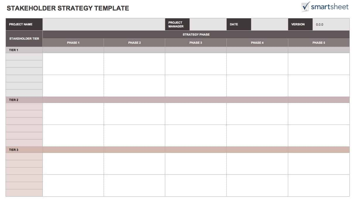 free stakeholder analysis templates smartsheet. Black Bedroom Furniture Sets. Home Design Ideas