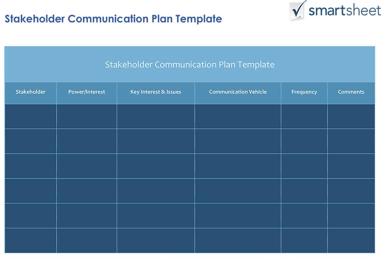 comms plan template - how to create a stakeholder management plan smartsheet