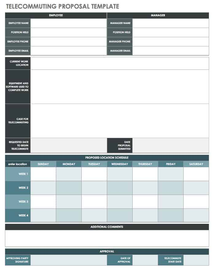 Free Job Proposal Templates  Smartsheet