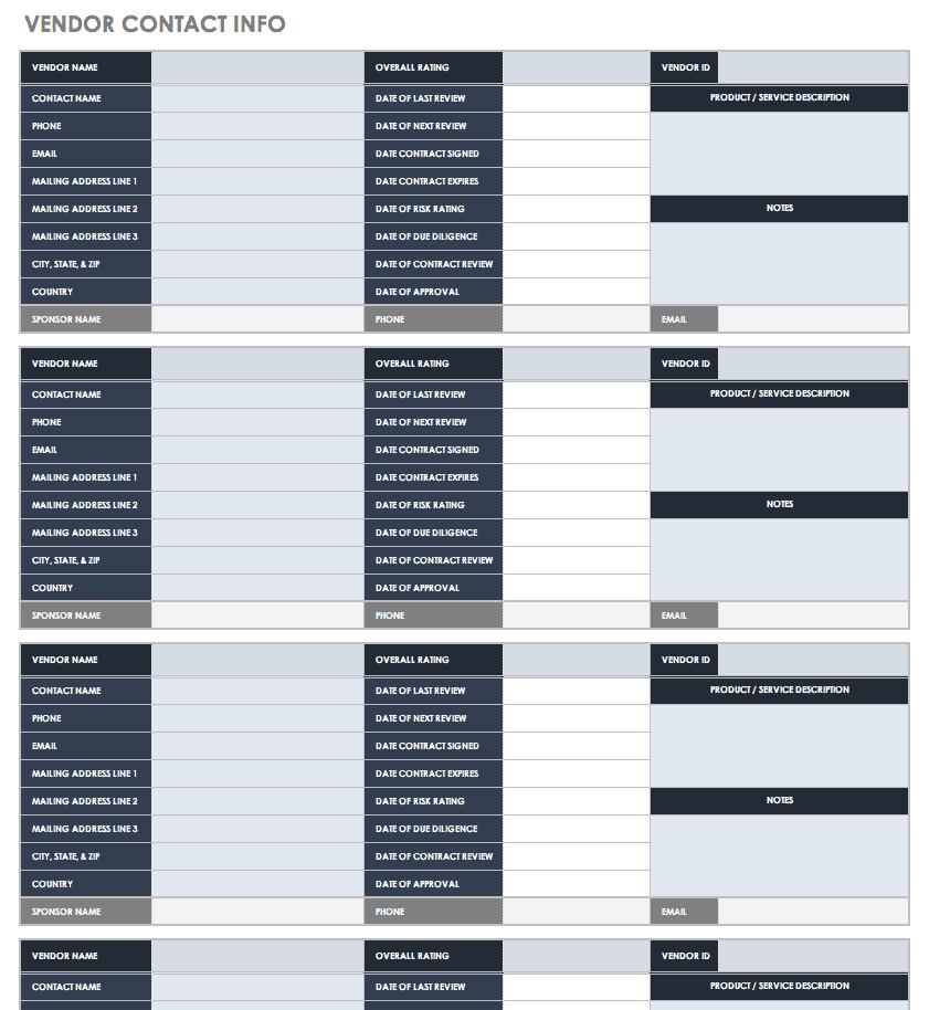 Free Contact List Templates | Smartsheet