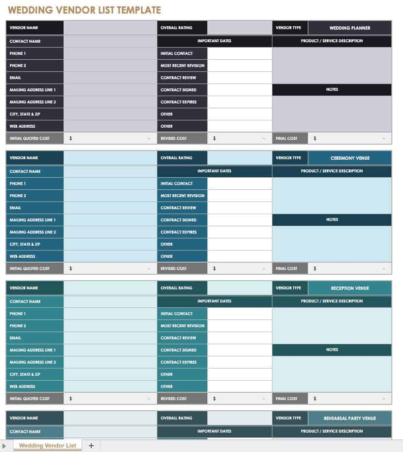 Free Event Planning Templates  Smartsheet