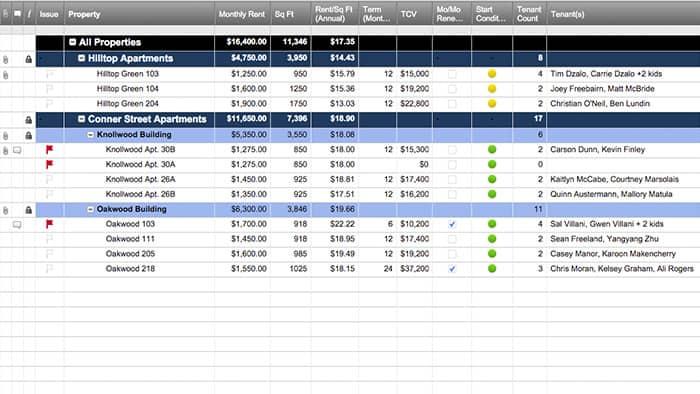 rent tracker template