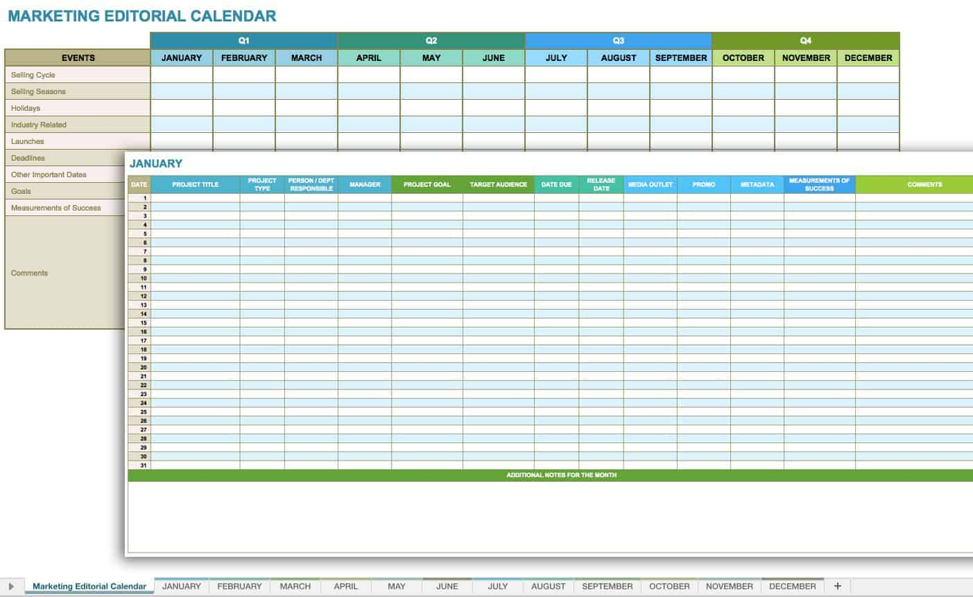 12 Free Social Media Templates Smartsheet – Weekend Scheduled Template