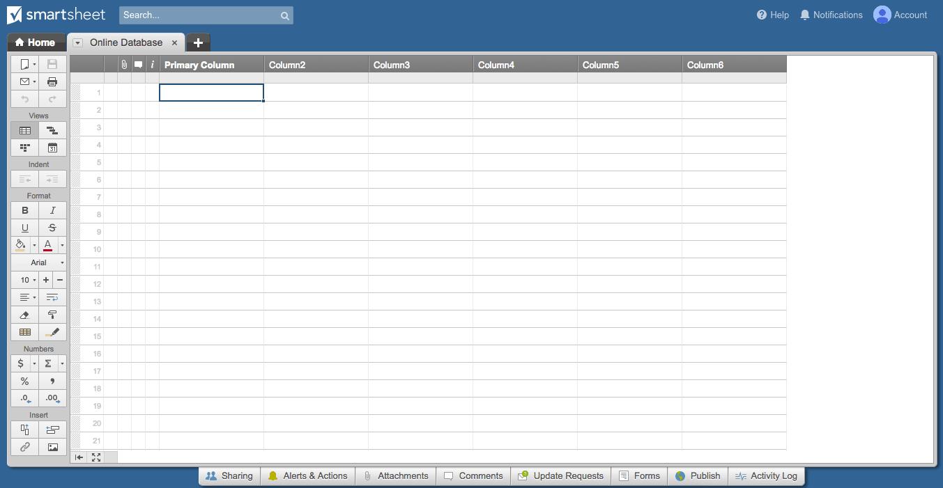 Guide To Choosing An Online Database Smartsheet