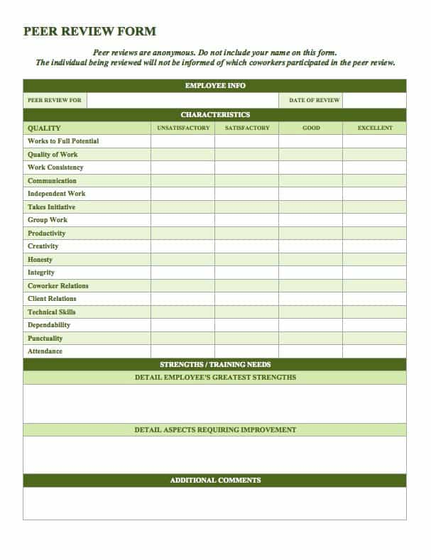 Free Employee Performance Review Templates Smartsheet – Personal Data Form Template Download Free