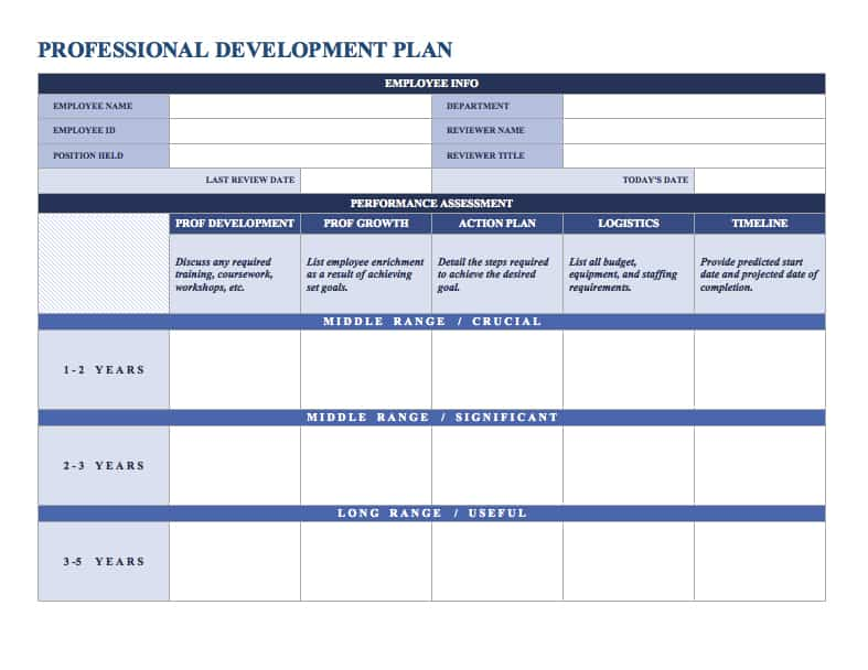Sample Plan Templates Professionaldevelopmentplanword Jpg Free