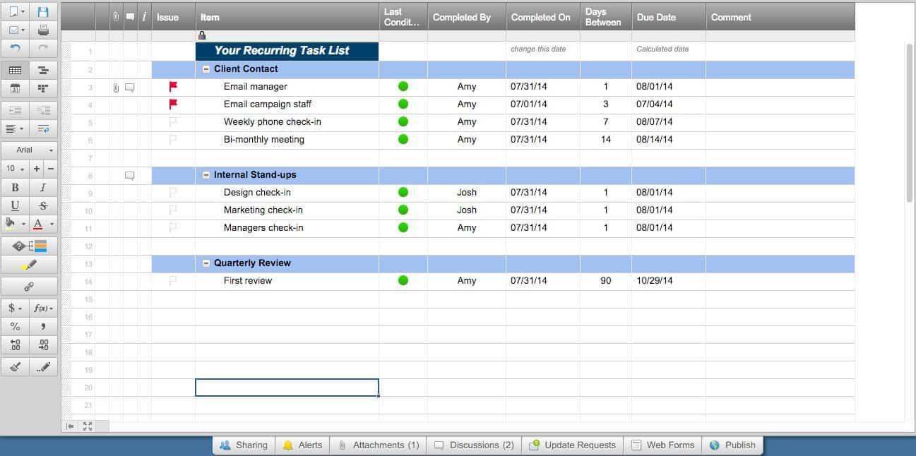 15 Free Task List Templates Smartsheet – Employee Task List