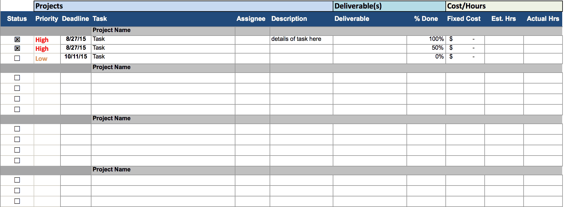 project management spreadsheet template koni polycode co