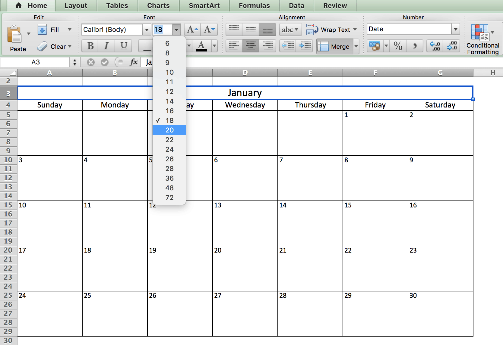 Excel Calendar Planner Template : Make a calendar in excel includes free template