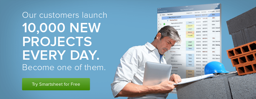 10,000 new Smartsheet project everyday.