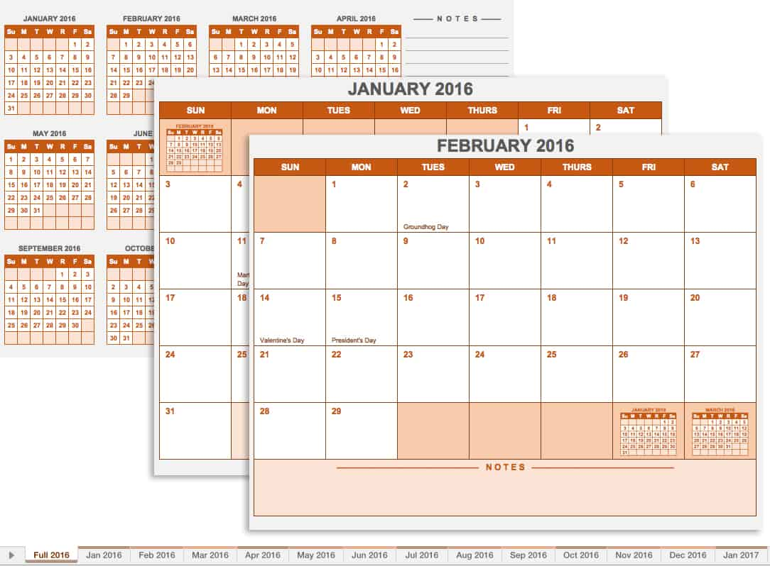 20 Free Calendar Templates for Work & Personal Planning
