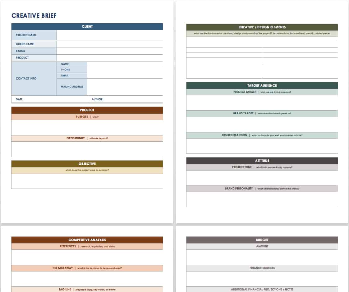 microsoft office templates smartsheet a creative brief is not merely a for ty it clarifies the client s objectives and helps prevent the need for multiple revisions during a project