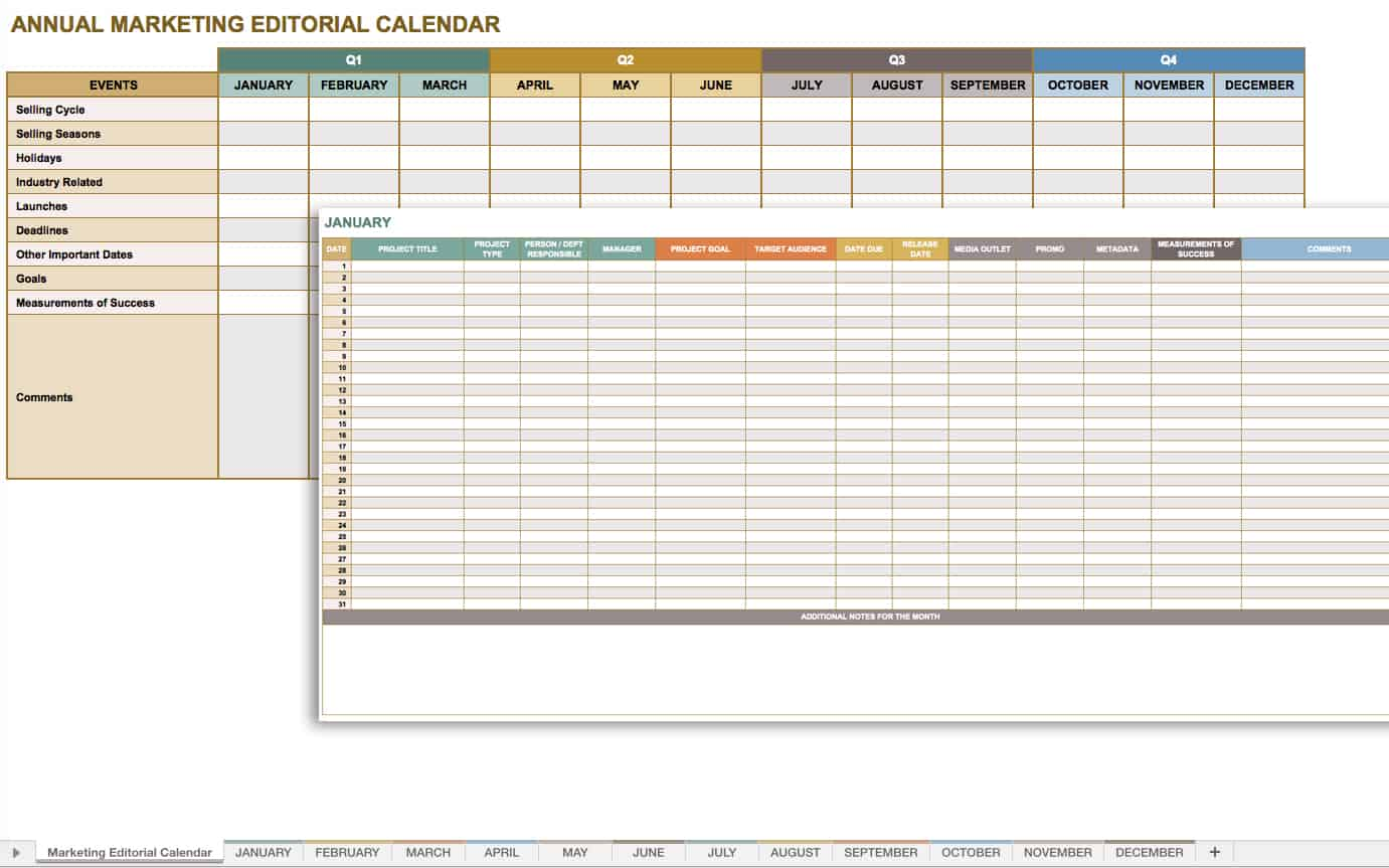 microsoft office templates smartsheet marketing editorial calendar template