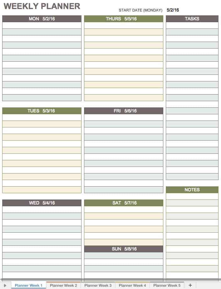 Blank Calendar Templates Blank Weekly Calendar Template Download
