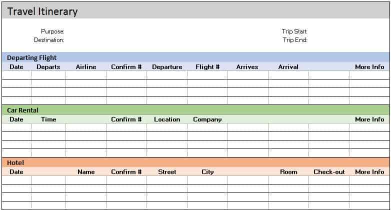32 Free Excel Spreadsheet Templates Smartsheetbusiness Travel