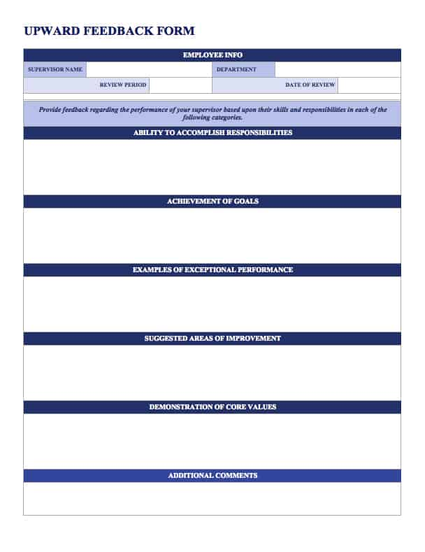 Free Employee Performance Review Templates Smartsheet – Employee Action Plan Template