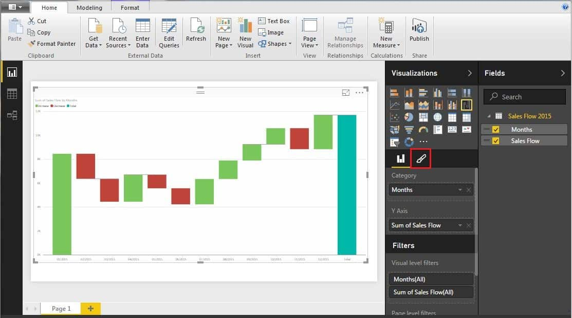How to create a waterfall chart in excel and powerpoint waterfallchartinbig ccuart Gallery
