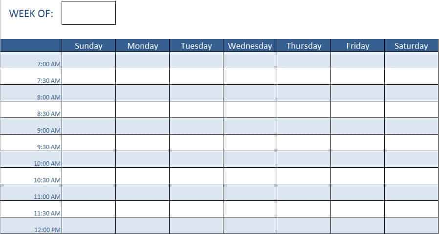 Free Human Resources Templates in Excel – Sample Interview Schedule Template