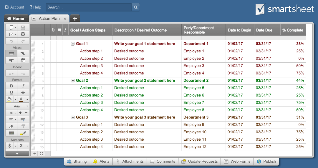 Good Smartsheet Action Plan Template To Project Action Plan Template Excel