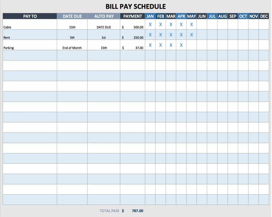 Free Weekly Schedule Templates For Excel Smartsheet – Hourly Schedule Template