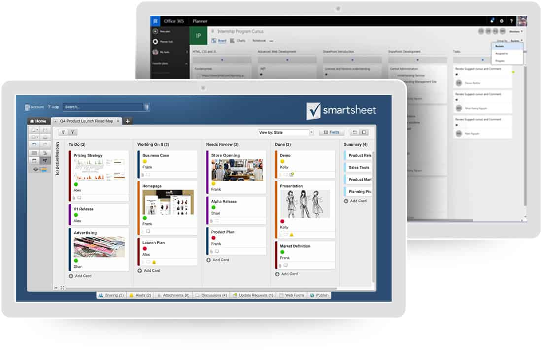 project management software comparison microsoft vs smartsheet