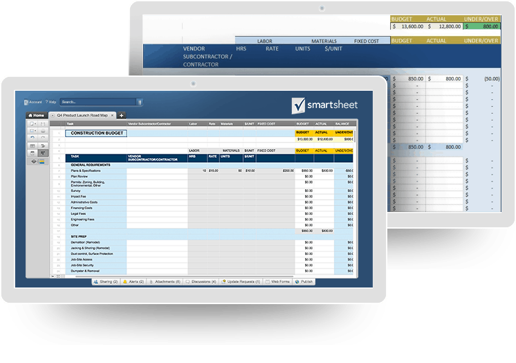 Free Budget Templates in Excel for Any Use  Smartsheet