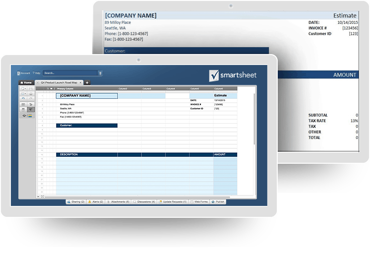 Construction Cost Estimating Basics And Beyond Smartsheet - Construction estimate and invoice software