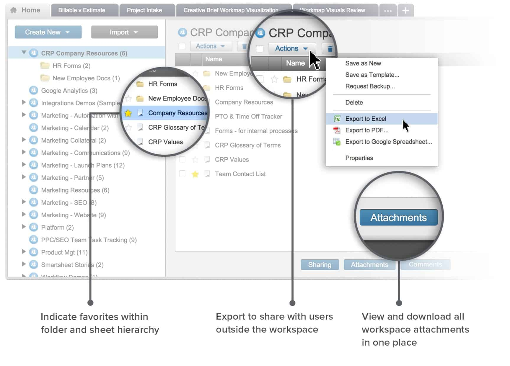 Smartsheet One Destination for Documents