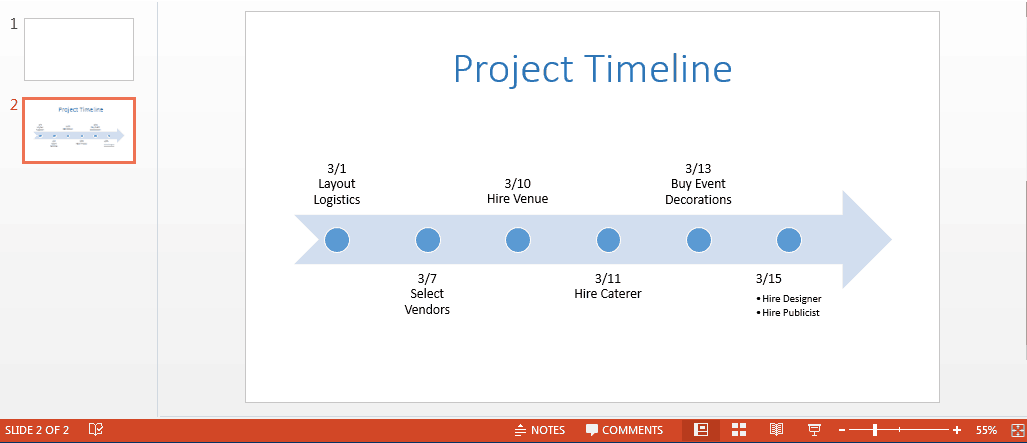Free PowerPoint Timeline Template - Timeline graphic template
