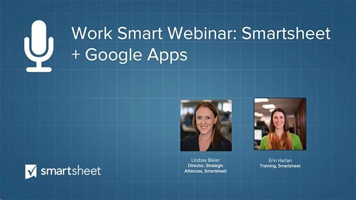 Google And Smartsheet Smartsheet