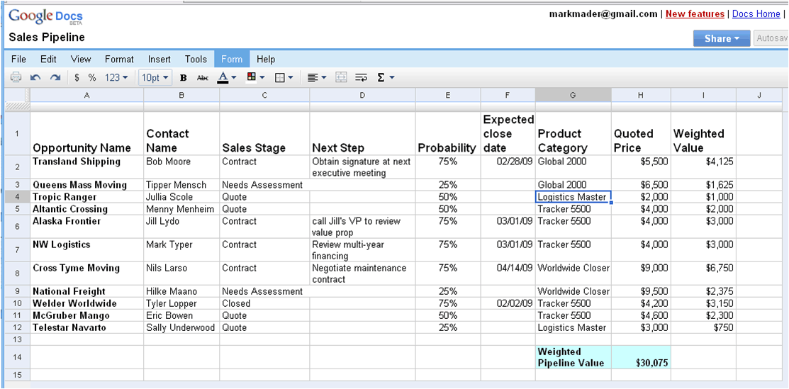 customer tracking excel template