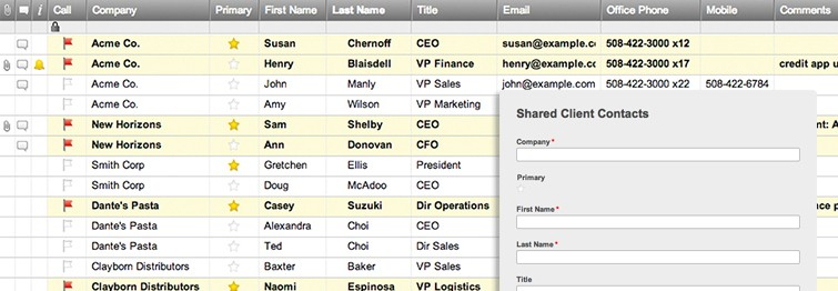 Client Contact List Template | Smartsheet
