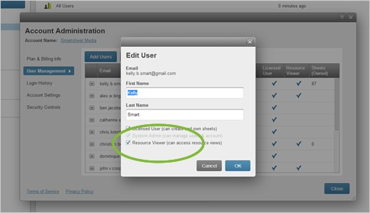 how to use resources in smartsheet