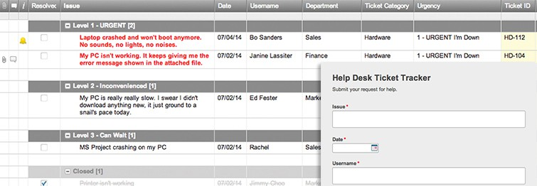 Help Desk Ticket Tracker And Form Template  Smartsheet