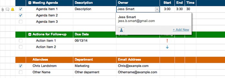 Meeting Agenda Attendance And Follow Up Template Smartsheet - Follow up template