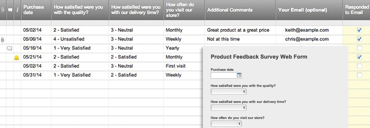 Product Feedback Survey Web Form | Smartsheet