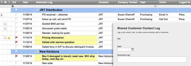 Shared Customer Contact Log And Form Template  Smartsheet
