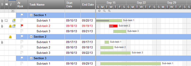 simple project gantt timeline template