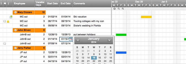 Exceptional Team Vacation Planner