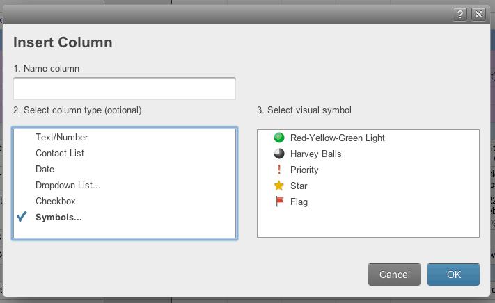 Smartsheet Tips Using Column Symbols Smartsheet