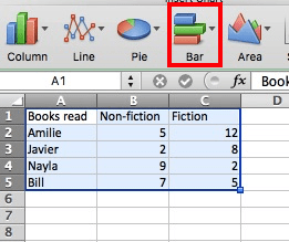 how to create a stacked bar chart in excel