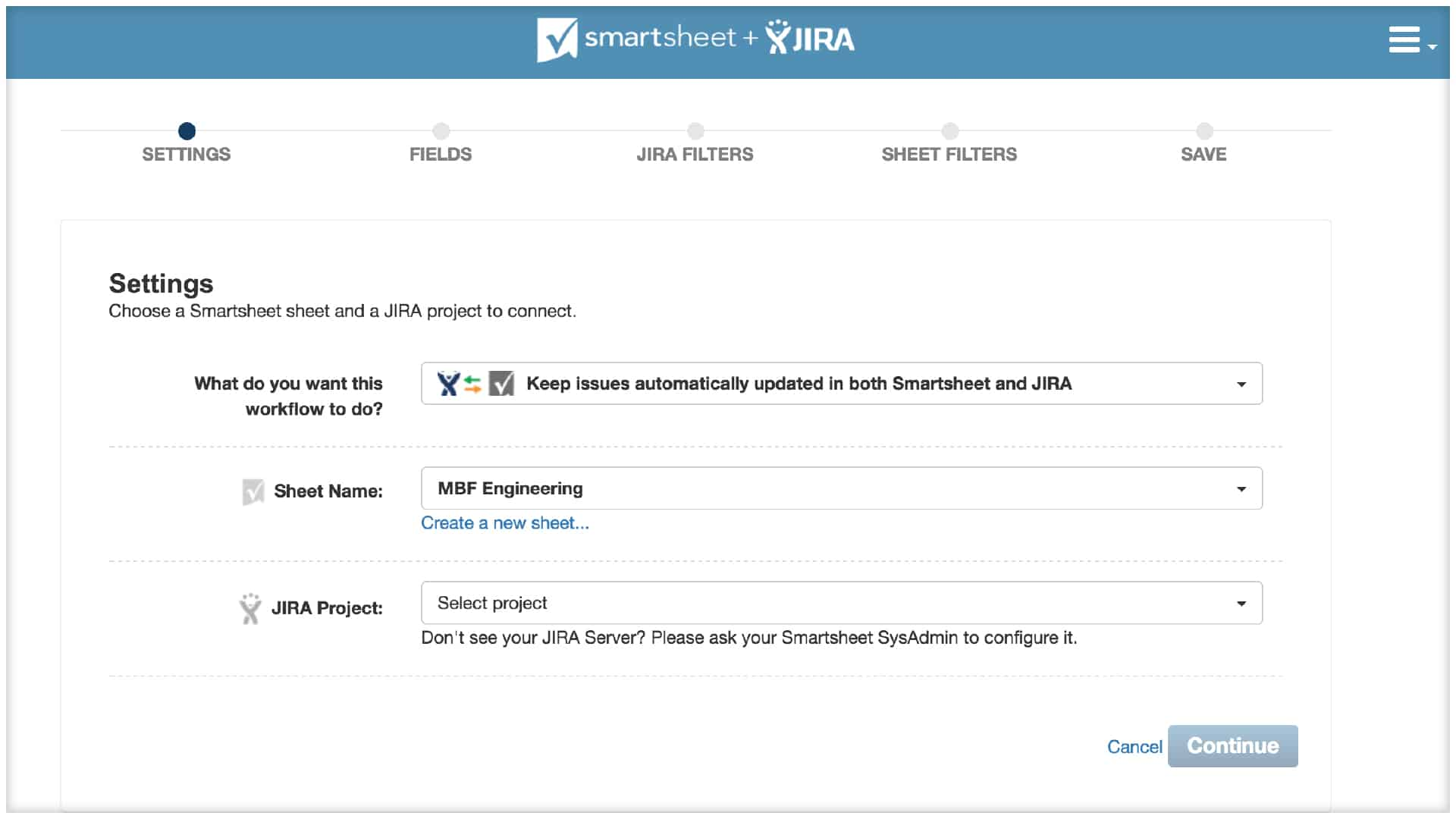 how to create a new project in jira