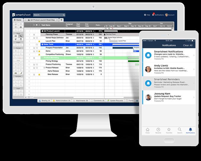 Smartsheet makes collaboration work