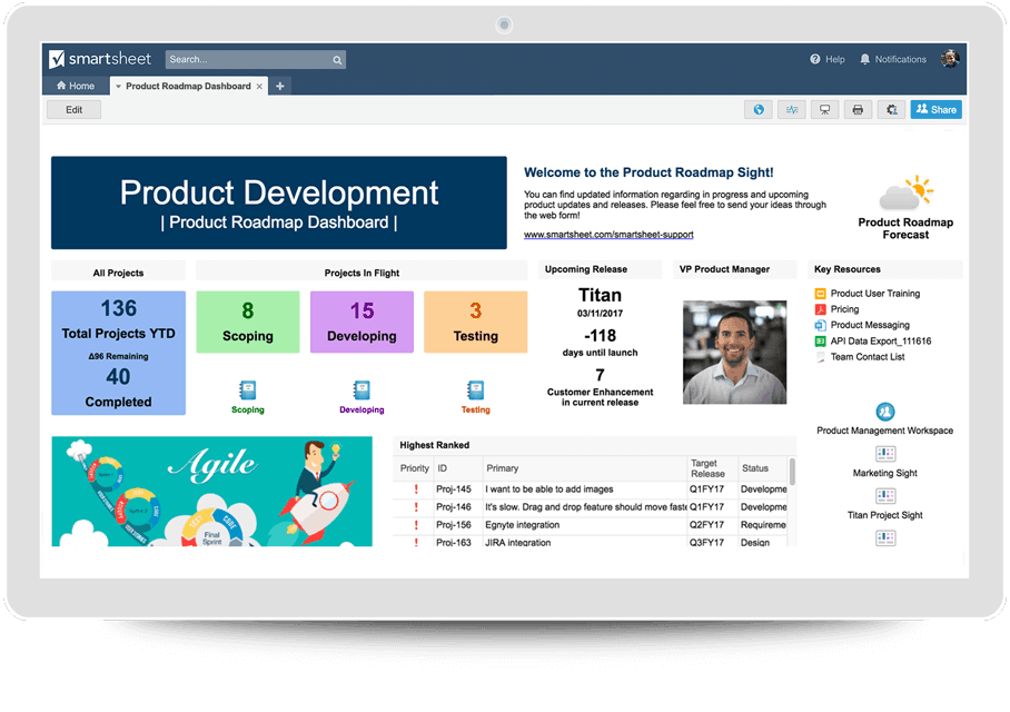 product development product dash