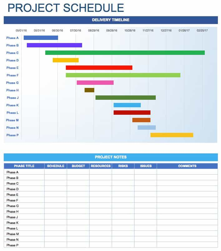 Free Daily Schedule Templates For Excel Smartsheet - Task timeline template