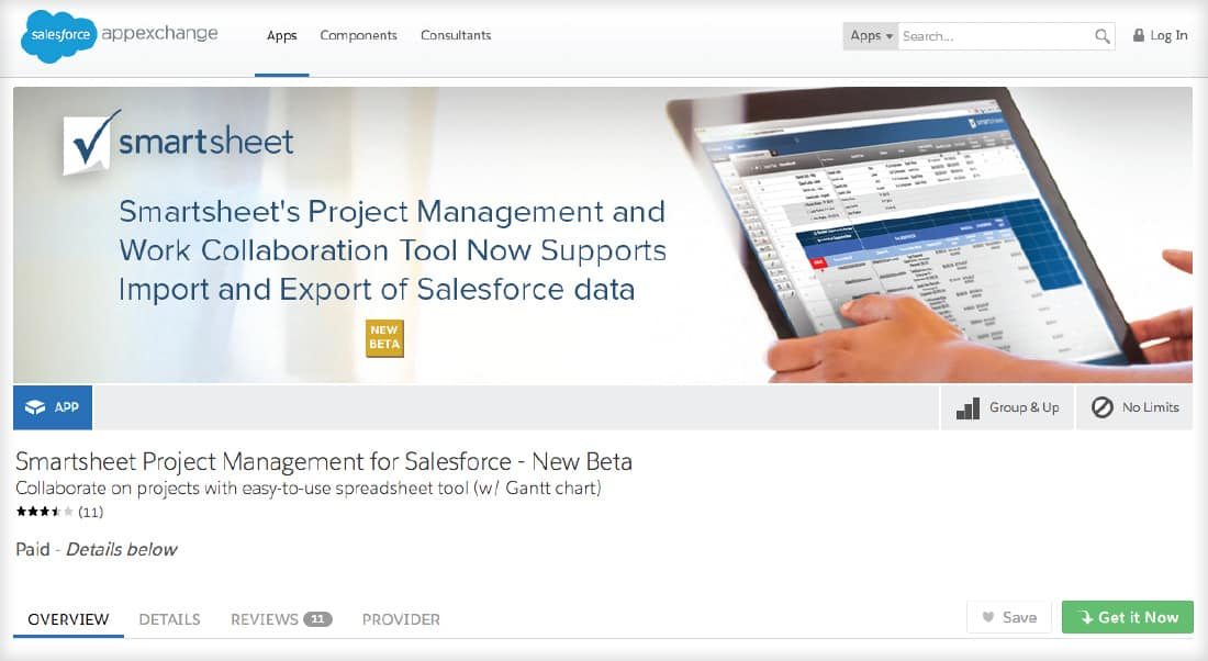 Picture of the Salesforce App Page