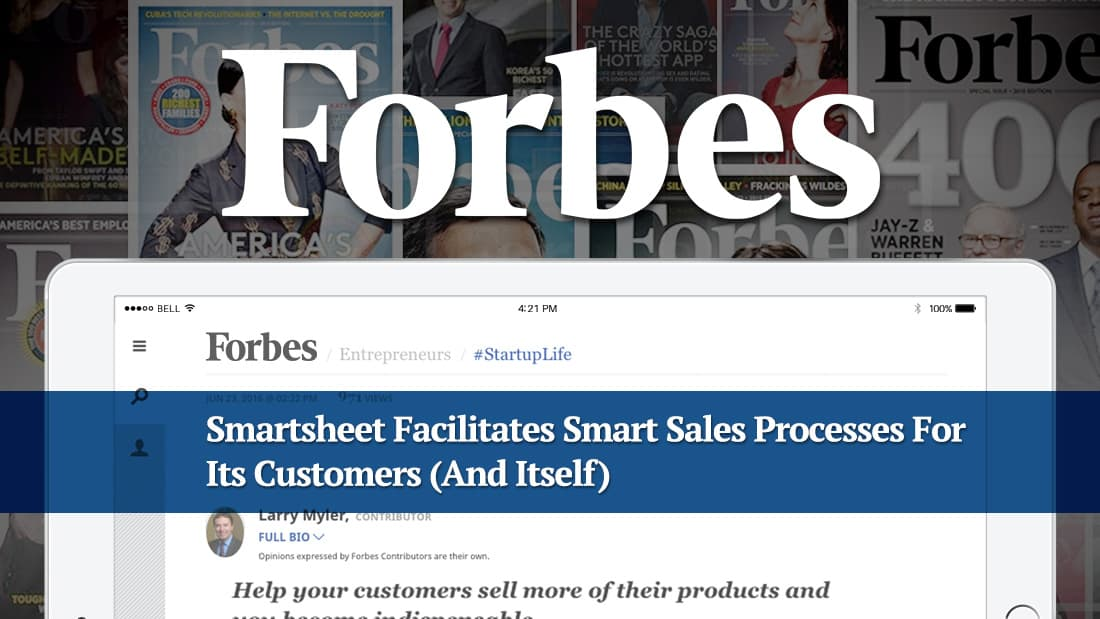 Smartsheet Facilitates Smart Sales Processes For Its Customers (And Itself)