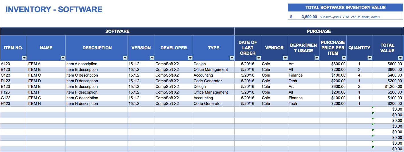 inventory and sales manager excel template