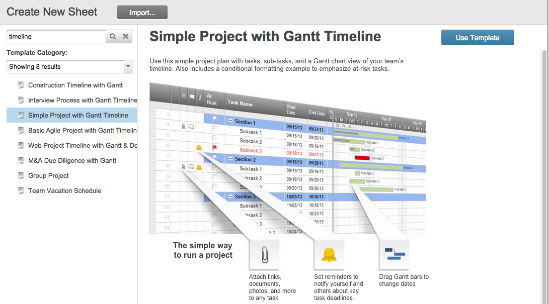 Choose A Smartsheet Timeline Template